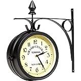 Horloge de gare retro double face New York