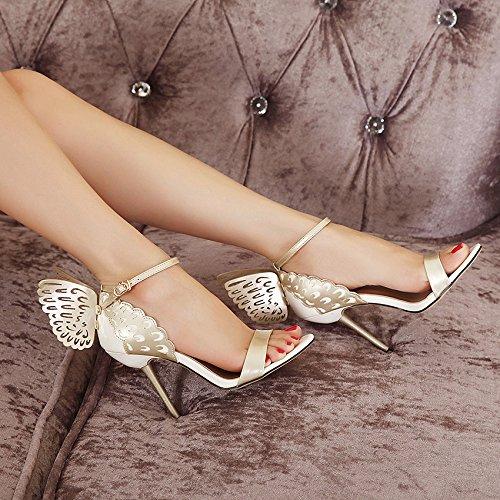 Hauts Ankle Bout Escarpins Papillon Ouvert Zpfmm Strap Sexy Talons Nude Femmes Chaussures À Sandales Parti qzxx5f