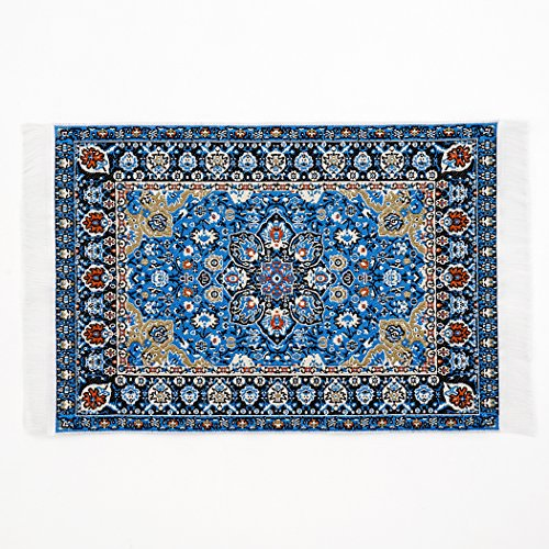Odoria 1:12 Blue Floral Print Vintage Woven Carpet Rug Blanket Miniature  Dollhouse - Vintage Dollhouse Furniture: Amazon.com
