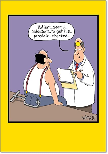 Amazon 8412 Reluctant Patient Hilarious Birthday Greeting Card