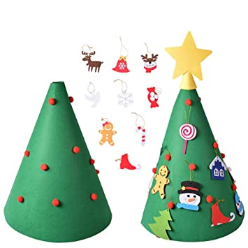 Image Unavailable - Amazon.com: BLUBOON 3D Felt Christmas Tree For Kids Toddlers 18PCS