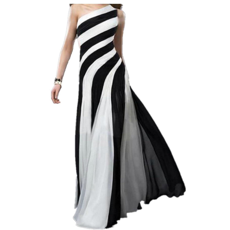 EMIN Damen Abendkleider Lang Chiffon Maxi Elegant Sexy ...