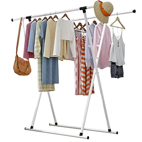 FU_BIN Perchero Simple Rack de Piso Rack Doble Poste ...