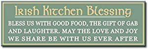 "My Word! Irish Kitchen Blessing-5"" x 16"", Decorative Home Décor Wooden Sign, Green"