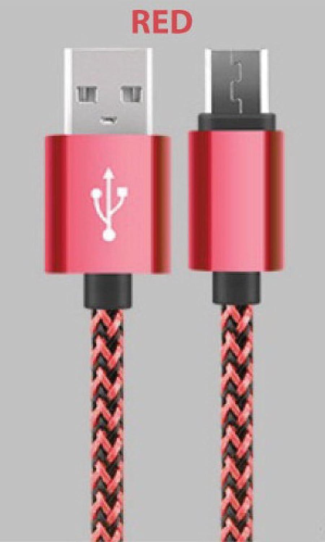 1metre tressé câble micro USB Charge de données haute vitesse de transfert de tablette Android ordinateur Plus rapide en nylon Amazing K