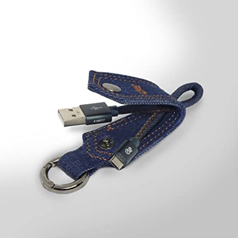 Jeans by i2GO - Llavero Cable Micro-USB 15cm: Amazon.es ...