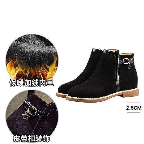 YMFIE Zapatos de Mujer de Gamuza, Botines clásicos, Botines ...
