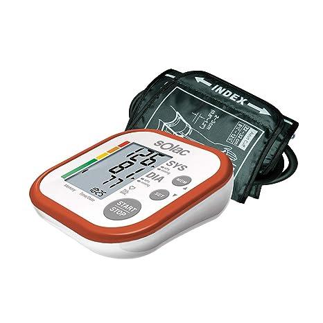 Solac Tensiotek+ - Tensiómetro de Brazo Digital para Presión Sistólica, Diastólica y Ritmo Cardíaco