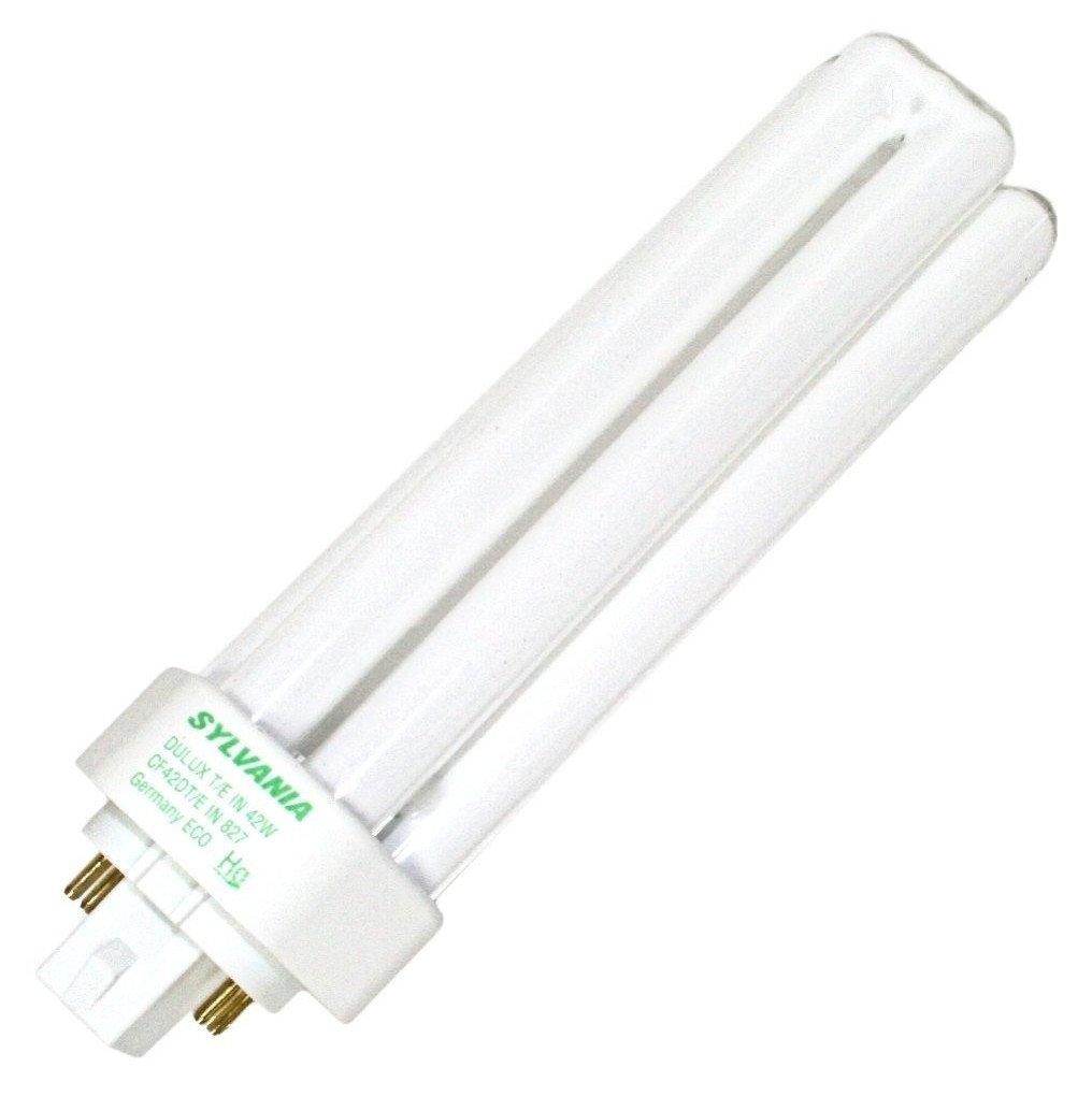 Sylvania 20890 (12-Pack) CF42DT/E/IN/841/ECO 42-Watt Triple Tube Compact Fluorescent Light Bulb, 4100K, 3200 Lumens, 82 CRI, T4 Shape, 4-Pin GX24q-4 Base