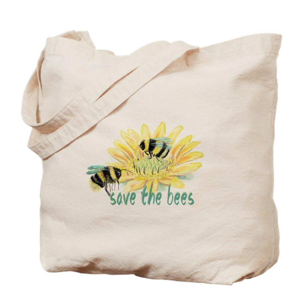 CafePress – Save the Bees – ナチュラルキャンバストートバッグ、布ショッピングバッグ M ベージュ 15254928446893C B073QV25LK  M