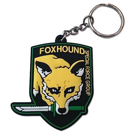 Metal Gear Solid 3D Foxhound Emblem Keychain