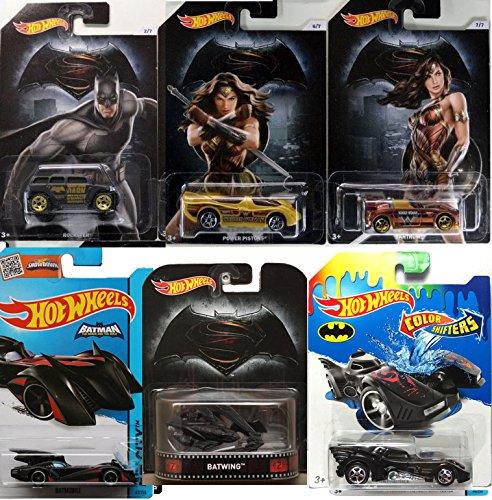 [Batman Vs Wonder Woman - Hot Wheels Exclusive - Batwing Retro + Batmobile DC Universe 2016 Super Heroes - Dark Knight Brave & the bold Rockster] (Hot Superhero Women)