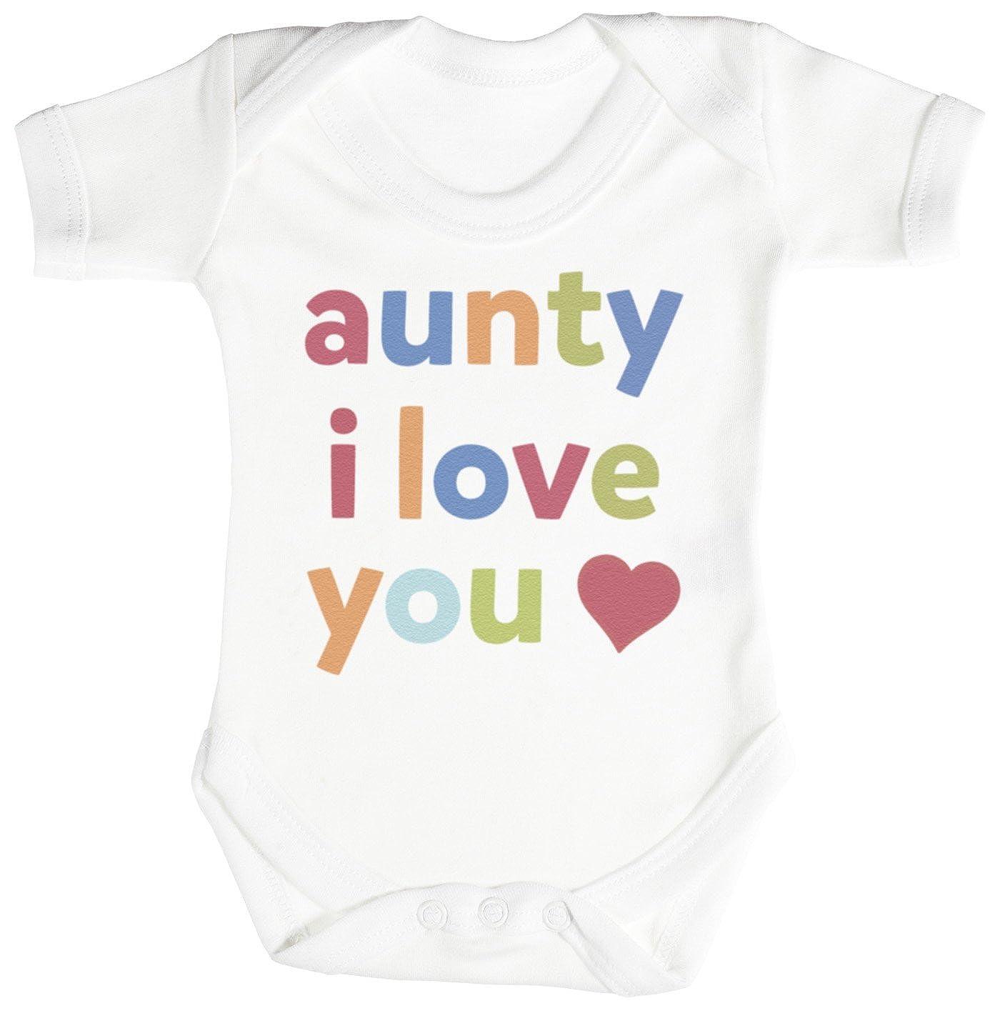 Cadeau B/éb/é Fille Cadeau B/éb/é Gar/çon Body B/éb/é Gar/çon Body B/éb/é Fille TRS Clothing Aunty I Love You Cadeau B/éb/é