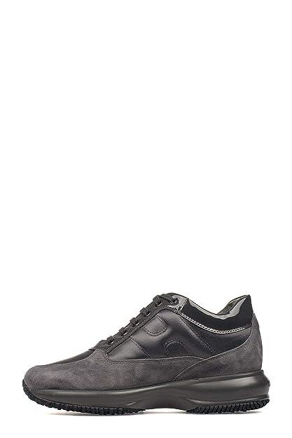 Hogan Mujer HXW00N0001035X9998 Gris Cuero Zapatillas: Amazon.es: Zapatos y complementos