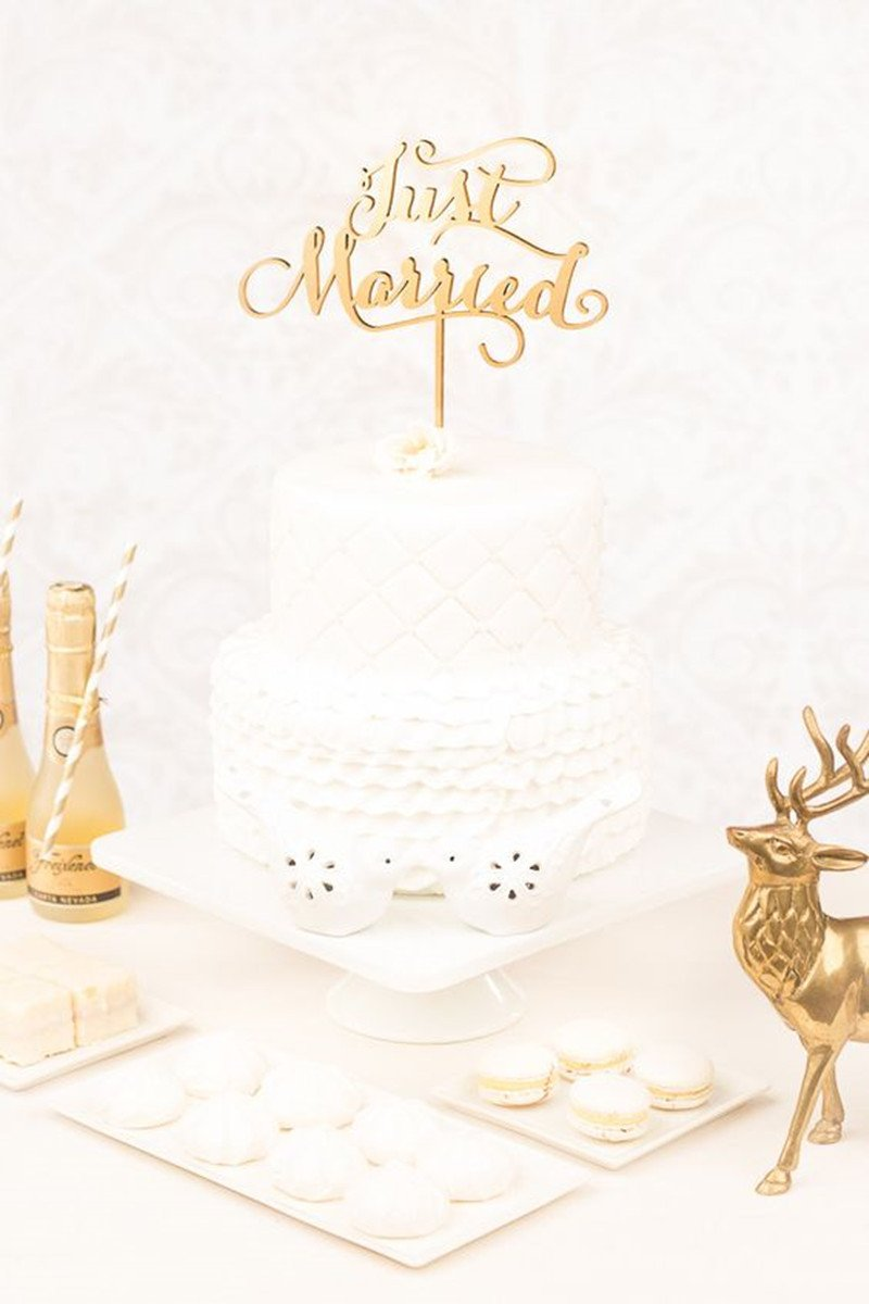 Forever Cake Designs Wedding Cake Topper, Rustic, Wood, For Wedding Cakes, Just Married