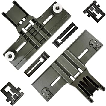W10195839 W10195840 Upgraded 10 Pcs Polymer Material W10350375 Dishwasher Top Rack Adjuster W10508950,W10082853 Dishwashers adjuster kit fits Replacement for Whirlpool Kenmore Dishwashers