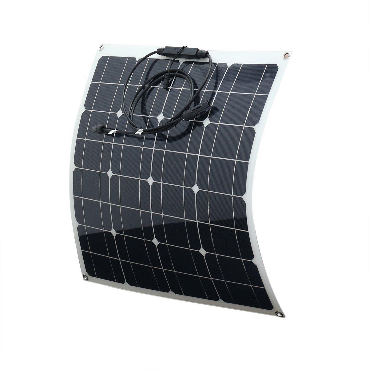 Prament 50w 560 * 540 * 2.5 mm 高効率ポータブル単結晶フレキシブルソーラーパネル   B07G36GR36