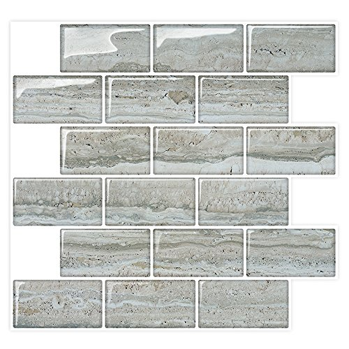 Peel & Stick Backsplash Subway Wall Tiles for Kitchen & Bath