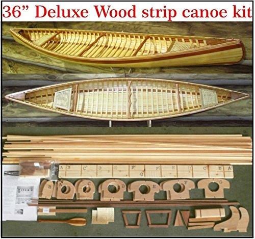 36 E.M. White Guide strip canoe kit by Canoe Model Kits