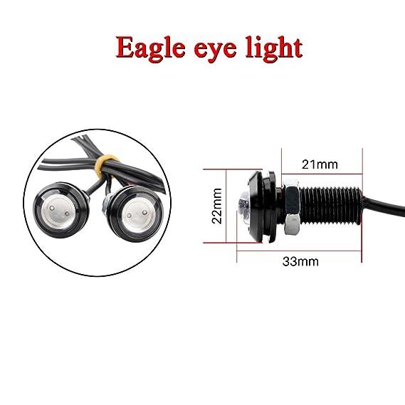 amazon com: osc 6pcs high power 23mm eagle eye led 9w drl fog light daytime  running lights car motorcycle clearance marker lights lamp: automotive