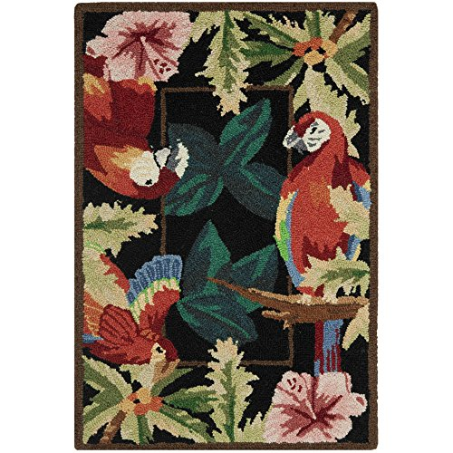 Safavieh Chelsea Collection HK296A Hand-Hooked Black Premium Wool Area Rug (2'6