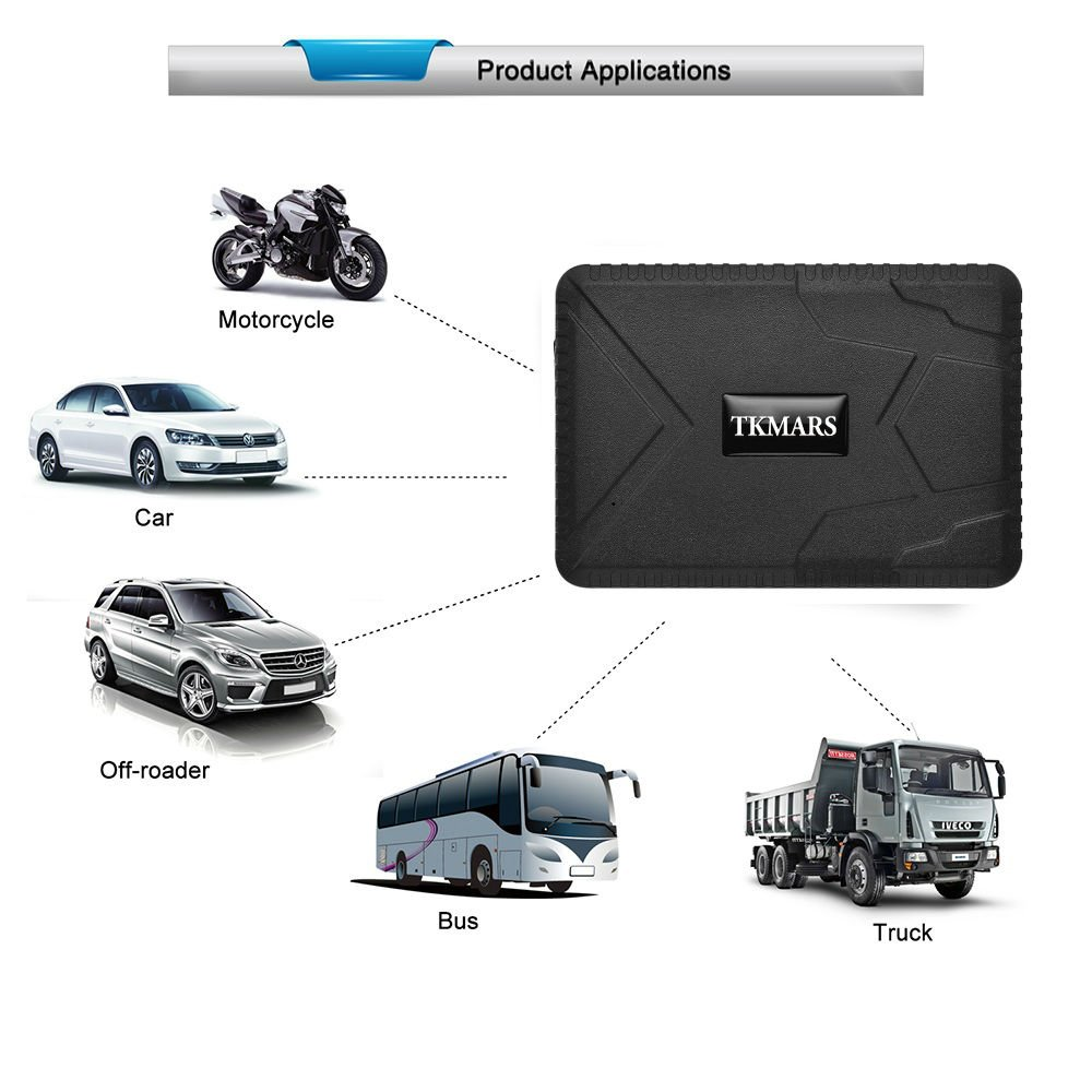 Hangang Magnetic GPS Tracker, 120 Days Gps Tracker Standby, Waterproof GPS Locator, Real Time Tracking Device, Car Vehicle with GPS Car Truck Without Installation with Free App (TK915)