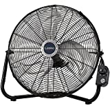 "Lasko 20"" High Velocity QuickMount, Easily Converts from a Floor Wall Fan, 7 x 22 x 22 inches, Black 2264QM"