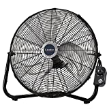 Lasko 2264QM 20″ High Velocity Fan with QuickMount, Black - Easily Converts From a Floor Fan to Wall Fan
