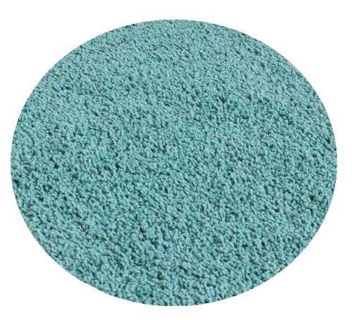 Soft Aqua Blue/Green - 6' ROUND Custom Carpet Area Rug