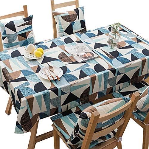 Tafelkleed Blauw Abstract Geometrisch Puur Katoen Verdikt Tafelkleed Stofdichte Hoeshanddoek Wasbare Tafelkleed Gebruikt Voor Het Dineren In De Keuken45x45cm1771x1771in