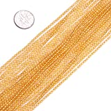 gem 2mm - GEM-inside 2mm Round Yellow Citrine Seed Beads Strand 15 Inches Loose Beads Findings Accessories