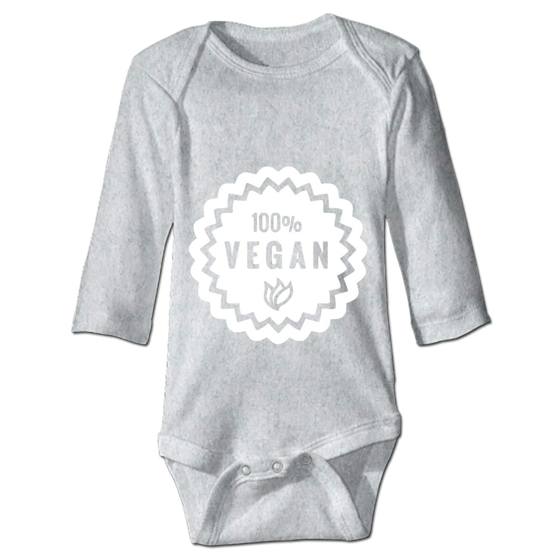 OHFSCTN Vegan Unisex Long Sleeve Summer Bodysuit 100/% Cotton