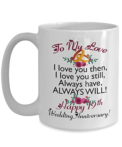 Image Unavailable. Image not available for. Color: 19th Wedding Anniversary Gifts ...
