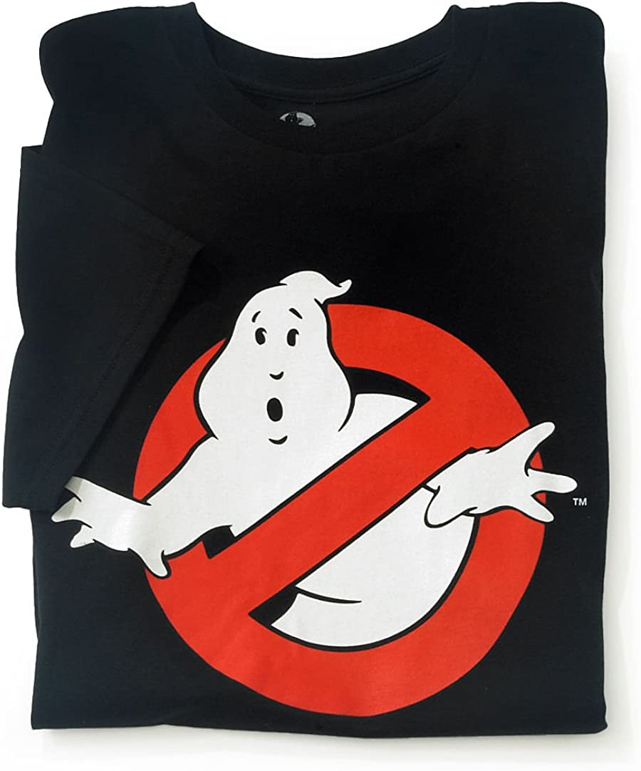Authentic Ghostbusters Ghost Logo Glow in The Dark T-Shirt S-2XL New