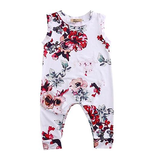 f419173ed45 Amazon.com  GRNSHTS Toddler Baby Girls Full Flower Print Long Romper ...