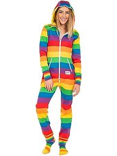 fbb4cbfb2f Amazon.com  Tipsy Elves Comfy Rainbow Jumpsuit Costume (X-Large ...