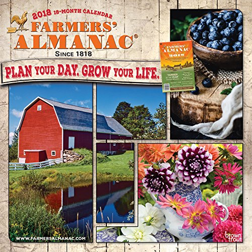 Farmers Almanac 2018 12 X 12 Inch Monthly Square Wall Calendar   Weather  Lore And More