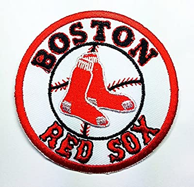 Boston Red Sox Patch Embroidered Iron on Hat Jacket Hoodie Backpack Ideal for Gift/ 7.5cm(w) X 7.5cm(h)