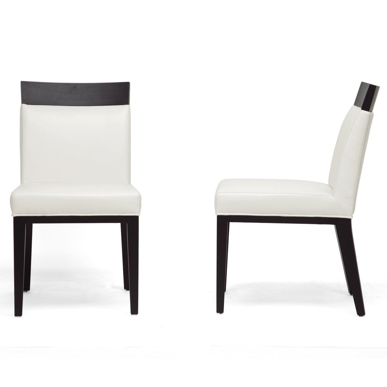 Amazon.com - Baxton Studio Clymene Black Wood and Cream Leather ...
