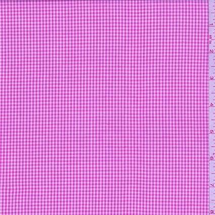 Camisa de algodón de cuadros color rosa cálido, tela por el ...