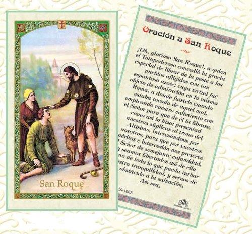Amazon.com: San Roque Patron de los Perros tarjeta de Rezo ...