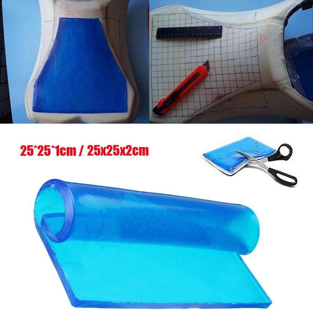 Sella moto cuscino gel assorbimento degli urti tappetino morbido cuscino blu comfort tappetini accessori 25 * 25 * 1/2 CM Motorbike DIY passeggero Touring Comaie®
