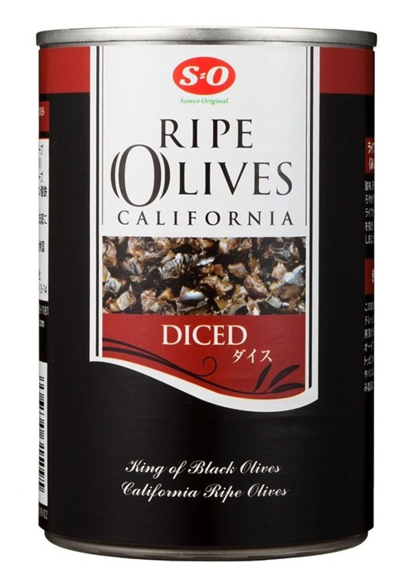 SO dice ripe olives # 4 (383g) X4 pieces