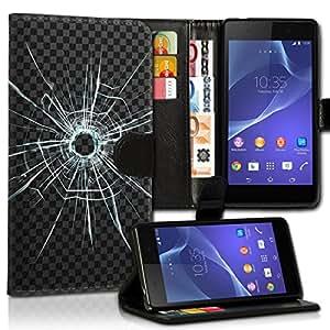 Wallet Wicostar–Funda Case Funda Carcasa diseño Funda para Sony Xperia Z2–Diseño Flip mvd231