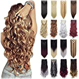 FIRSTLIKE Grade 7A 160g 23-24 Inch Real Thick Double Weft Full Head Clip In Hair Extensions