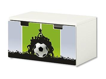 Fútbol pegatinas | pegatinas para muebles | BT46 | adecuado para el arcón de banco STUVA de IKEA para niños ...