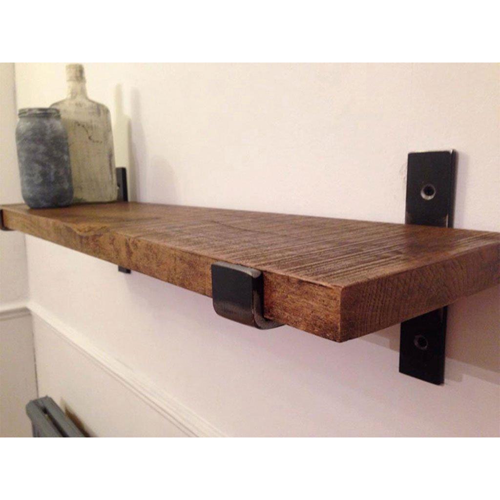 Wall-Mounted Separator Bookshelf Wrought Iron Wooden Industrial Wind Shelf Kitchen (Size : 40cm) by LTJTVFXQ-shelf (Image #2)