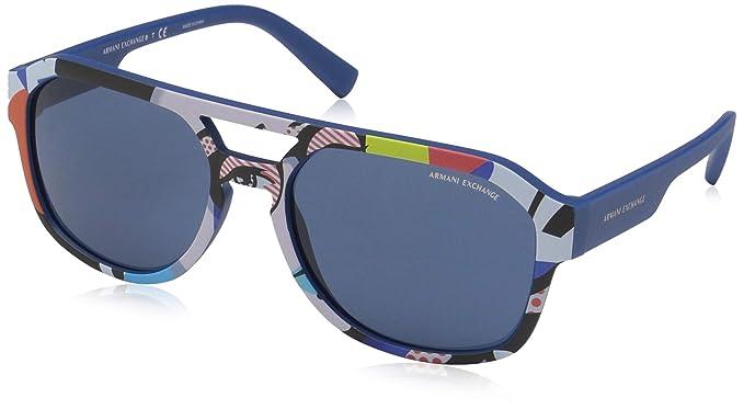 b68edec1e8 Armani Exchange 0ax4074s - anteojos de sol rectangulares para hombre (57,0  mm)