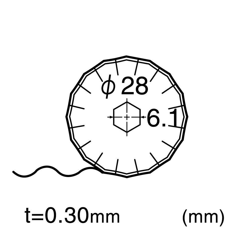 NT Cortador de 28 mm para cortador rotatorio y cortador de c/írculo de tela grande 2 hojas//paquete 1 paquete
