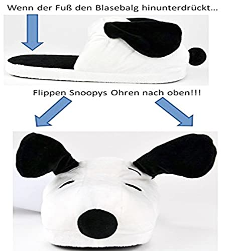 United Labels 0119565 - Peanuts - Snoopy Slippers with Pop-Up Function, Size EU 38/40 (UK 4/6) by United Labels
